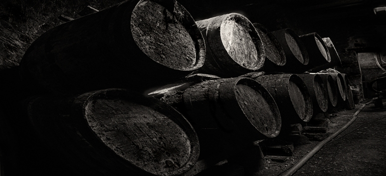 Old, traditional barrels