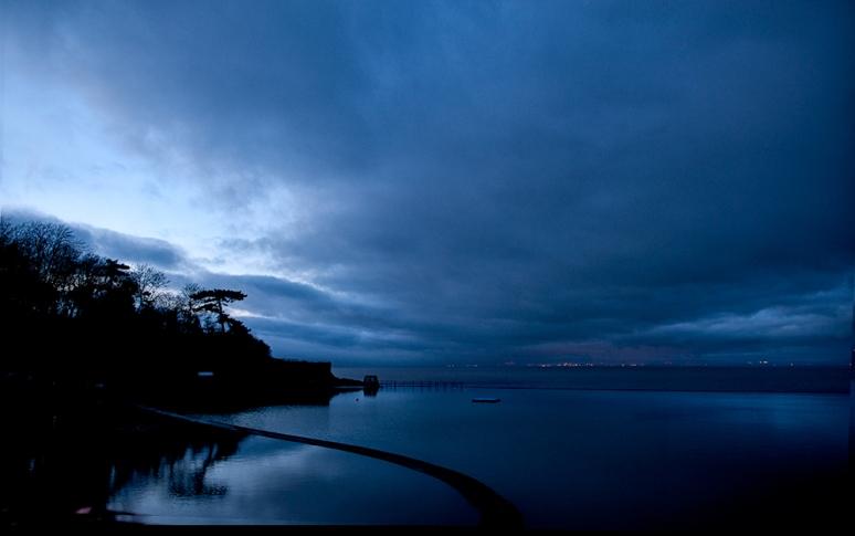 Blue-hour--Cardiff